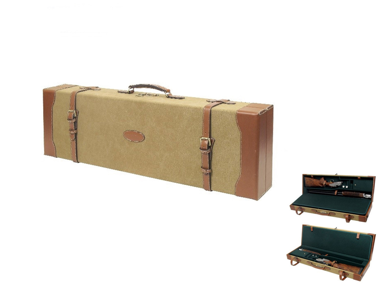 Guardian Heritage Canvas and Leather Double Shotgun Hard Case