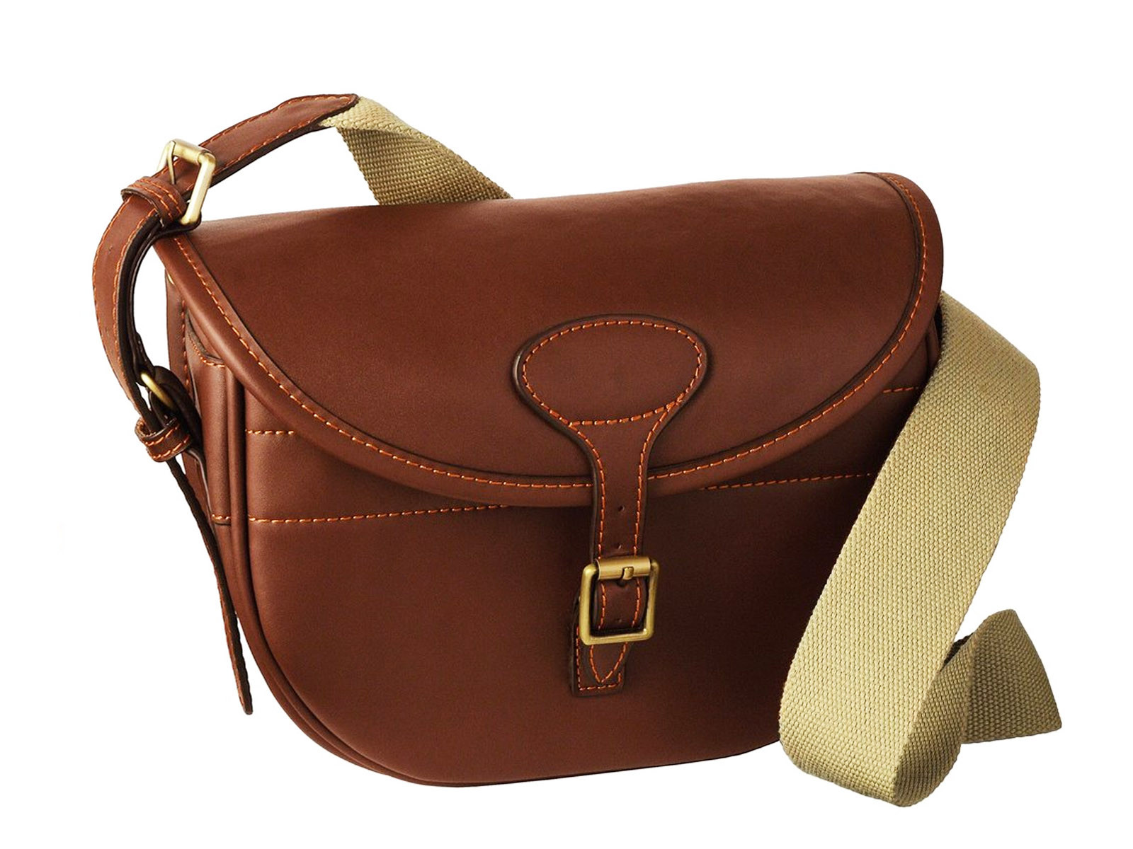 Guardian Chestnut Leather Cartridge Bag 100
