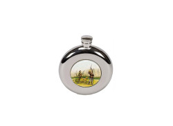 Bisley Shooting Hip Flask - Round