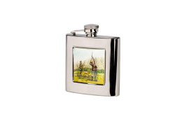Bisley Shooting Hip Flask - Square