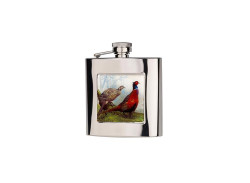 Bisley Pheasant Hip Flask - Square