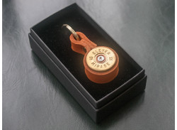 Jamie Boult - Leather Cartridge Keyring - Tan