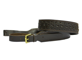 Lined Leather Rifle Sling - Patterned