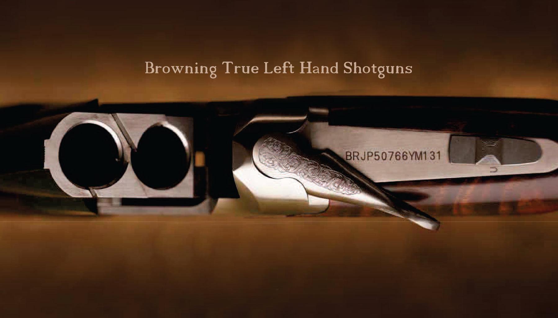 Browning True Left Hand Shotguns