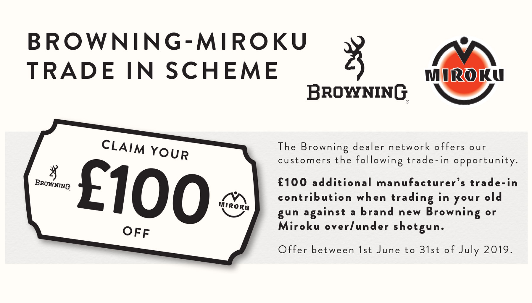 Browning Trade In Scheme!