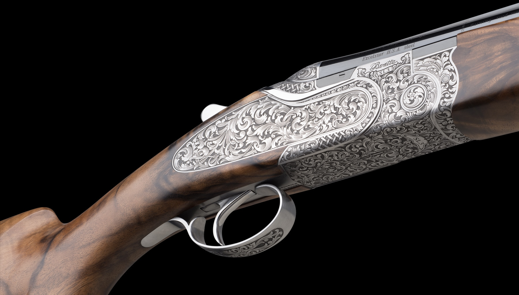 A fine English scroll engraving for a stunning traditional look.
