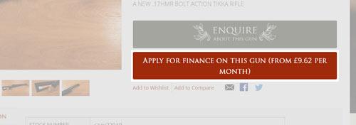 Gun Finance Button